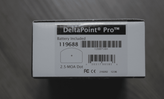 leupold deltapoint pro packaging label