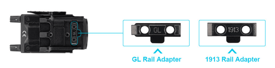 olight baldr s GL rail key included