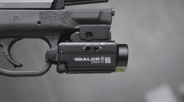 smith wesson mp compact with olight baldr s