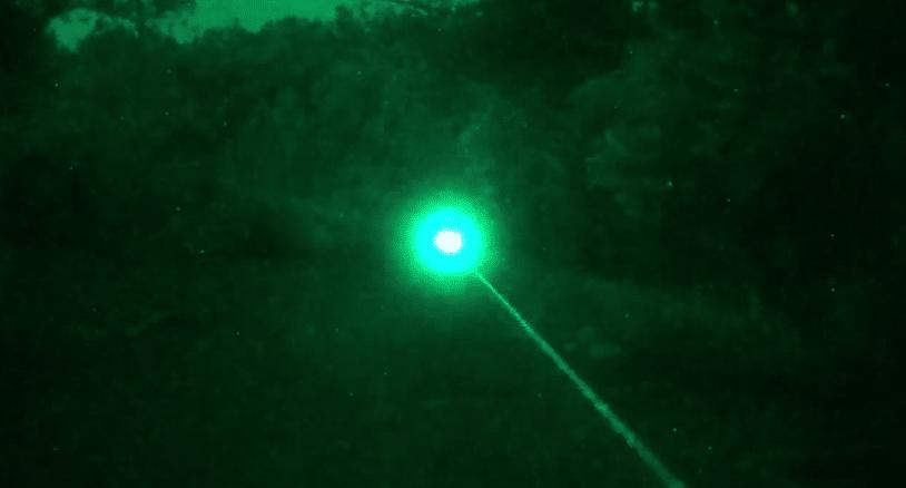 IR laser under night vision