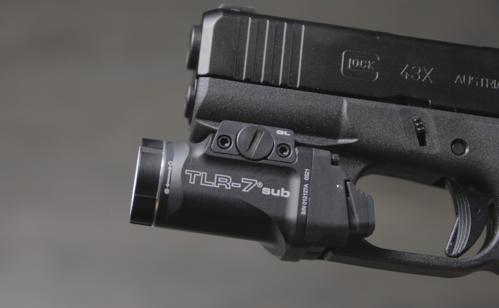 glock 43x with streamlight tlr 7 sub light