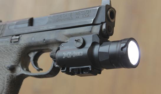 surefire xh30 on mp pistol
