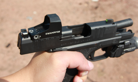 swampfox sentinel red dot on hellcat 9mm