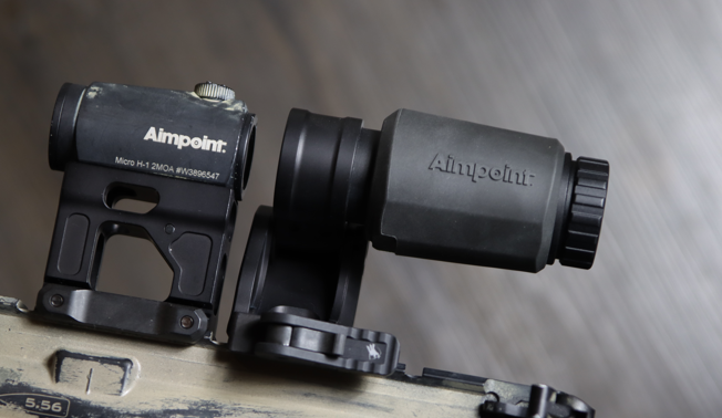 aimpoint 3x c magnifier with aimpoint micro h1