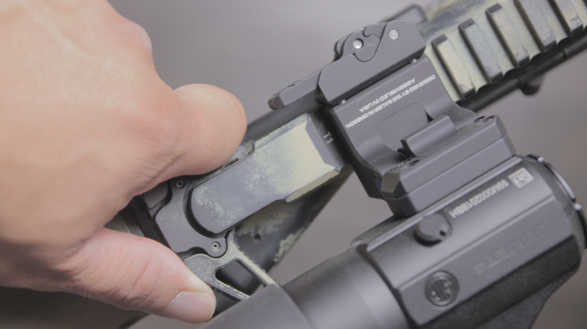 charging handle interferes with qd throw lever