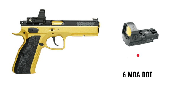 cz shadow 2 gold with leupold deltapoint pro 6 moa