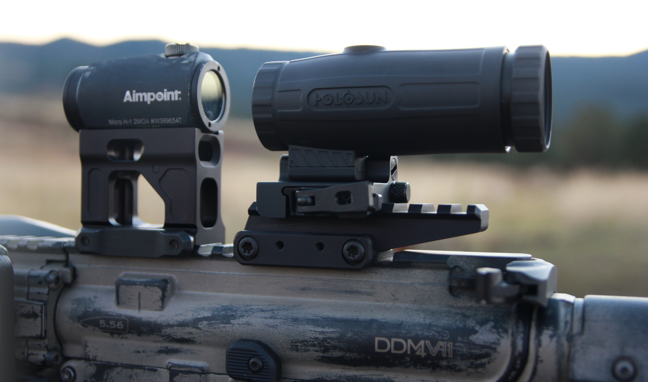 holosun hm3x magnifier with aimpoint micro h1