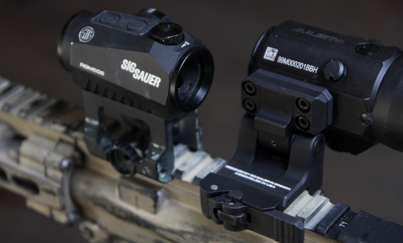 sig romeo 5 with juliet 4 red dot magnifier side view
